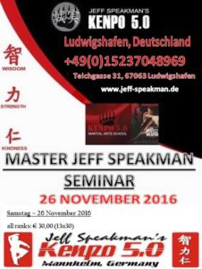 Jeff Speakman am 26.11.2016 in Ludwigshafen